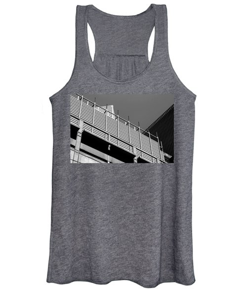 Architectural Lines Black White Women's Tank Top