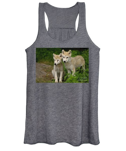 Arctic Wolf Puppies Women's Tank Top