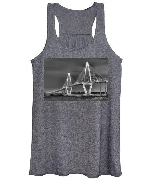 Arthur Ravenel Jr. Bridge In Black And White Women's Tank Top