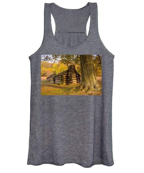 Autumn And The Huts At Valley Forge Women's Tank Top