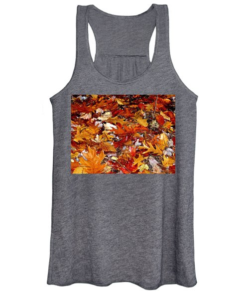Autumn Leaves On The Ground In New Hampshire - Bright Colors Women's Tank Top