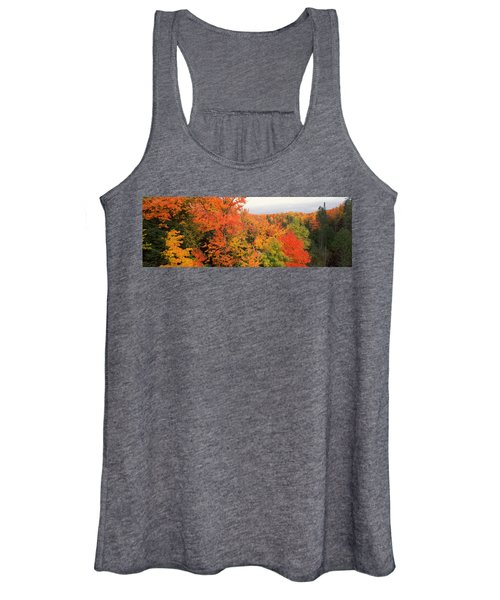 Autumnal Trees In A Forest, Hiawatha Women's Tank Top