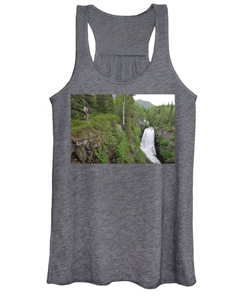 Backpacker Hikes The Resurrection Pass Women's Tank Top
