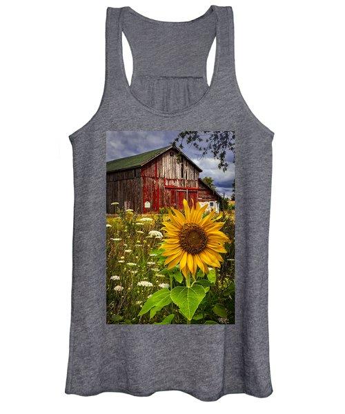 Barn Meadow Flowers Women's Tank Top