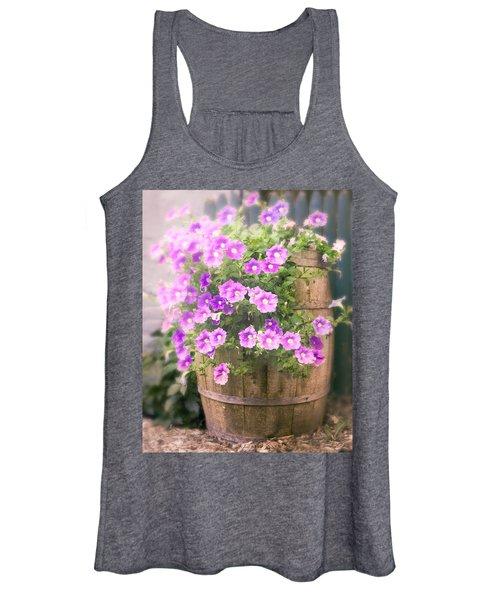 Barrel Of Flowers - Floral Arrangements Women's Tank Top