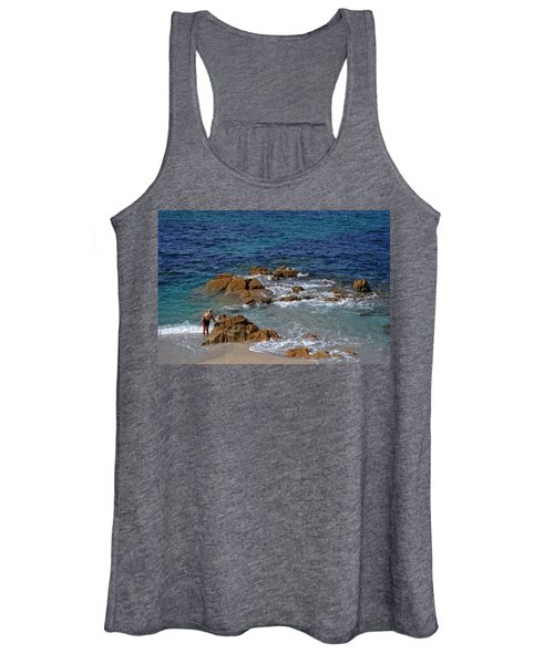 Bathing In The Sea - La Coruna Women's Tank Top