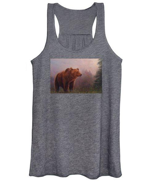 Bear In The Mist Women's Tank Top