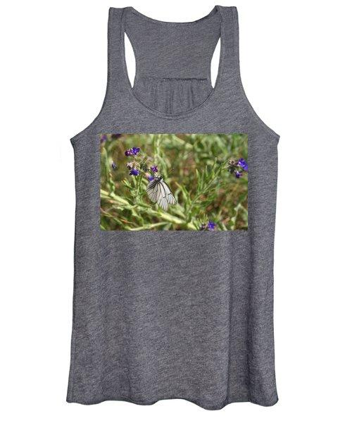 Beautiful Butterfly In Vegetation Women's Tank Top