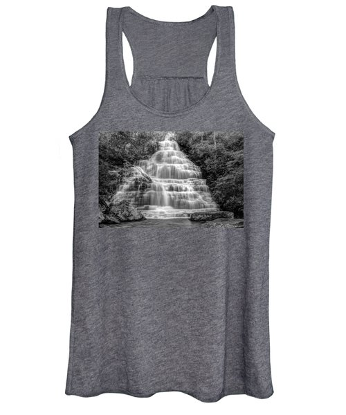 Benton Falls In Black And White Women's Tank Top