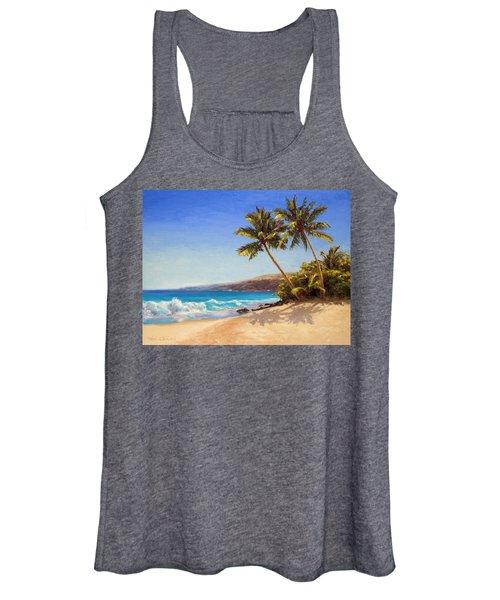 Hawaiian Beach Seascape - Big Island Getaway  Women's Tank Top