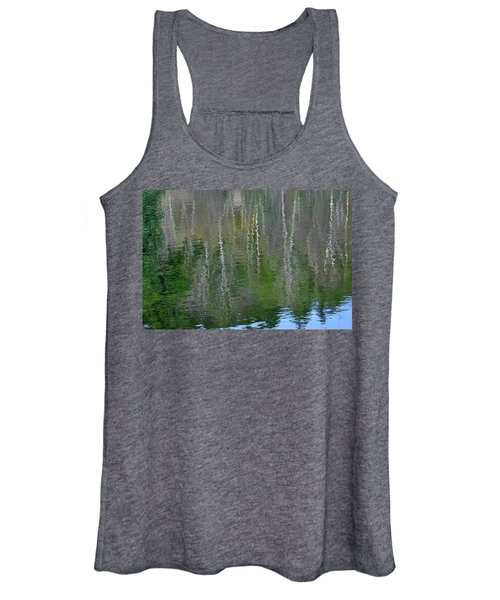 Birch Trees Reflected In Pond Women's Tank Top