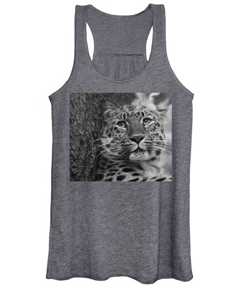 Black And White Amur Leopard Women's Tank Top