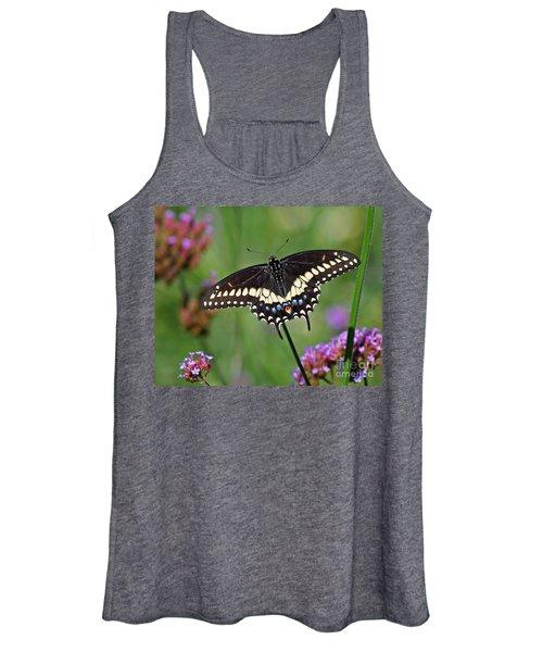 Black Swallowtail Butterfly  Women's Tank Top