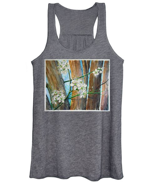 Blooms Of The Cleaveland Pear Women's Tank Top