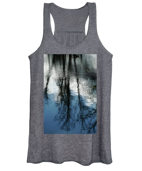Blue And White Reflections Women's Tank Top