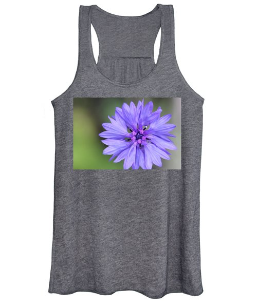 Blue Button Women's Tank Top