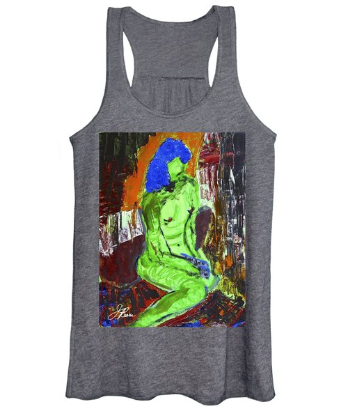 Blue Haired Nude Women's Tank Top