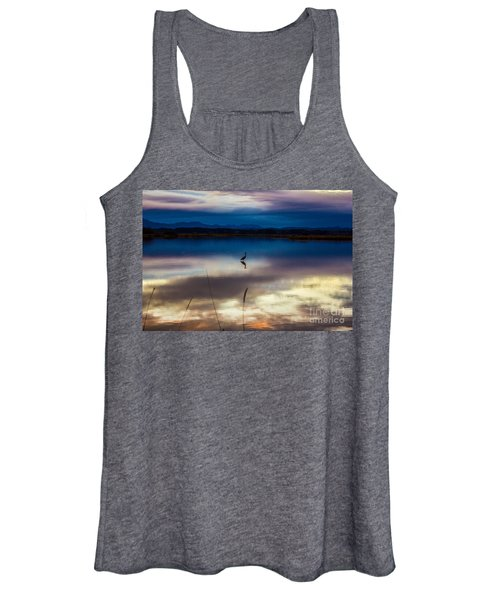Blue Heron Sun Set Women's Tank Top