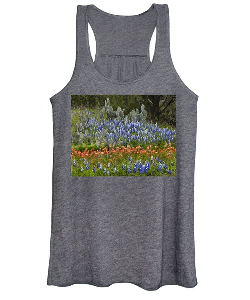 Bluebonnets Paintbrush And Prickly Pear Women's Tank Top