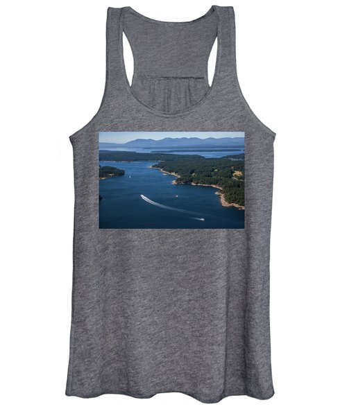 Boats Off The Coast Of Vancouver Island Women's Tank Top