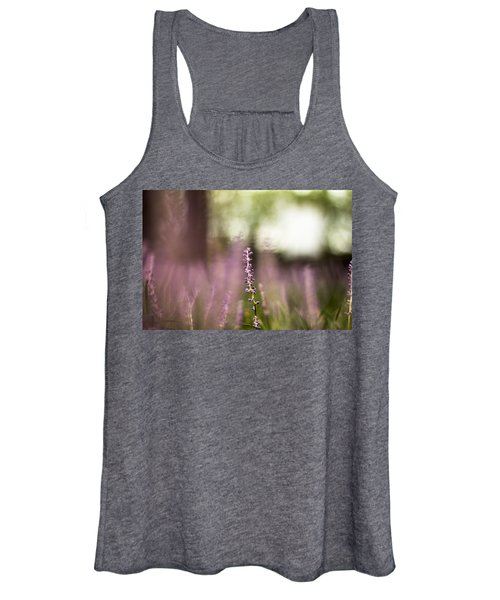 Bokeh With Purple Wildflower Women's Tank Top