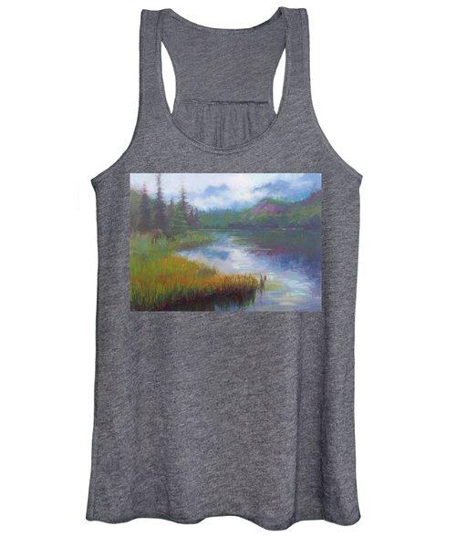 Bonnie Lake - Alaska Misty Landscape Women's Tank Top