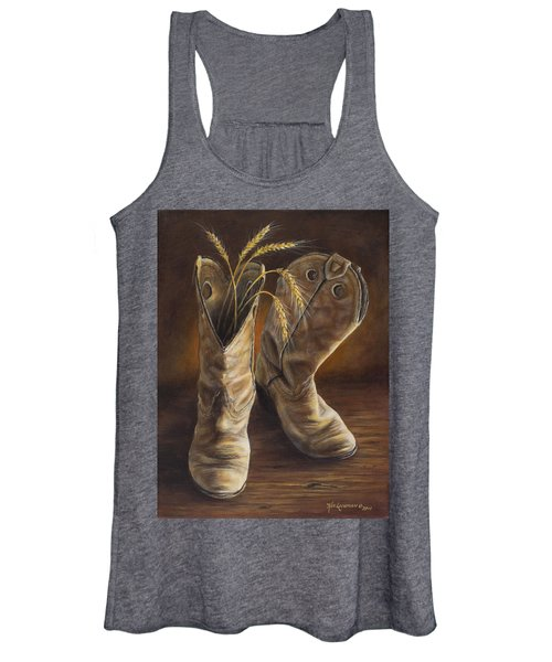 Boots And Wheat Women's Tank Top