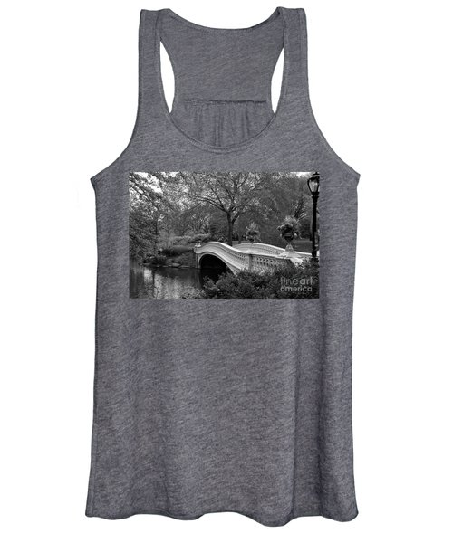 Bow Bridge Nyc In Black And White Women's Tank Top