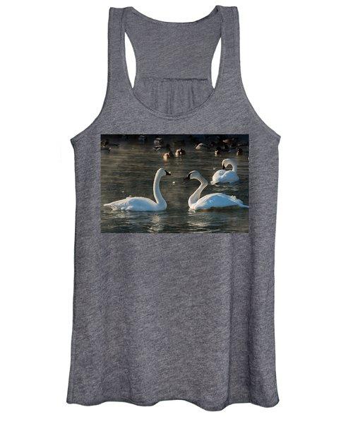 Broke Neck Swan Women's Tank Top