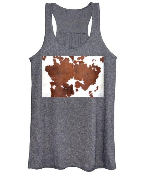 Brown Cowhide Women's Tank Top