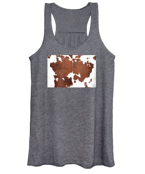 Brown Cowhide Women's Tank Top