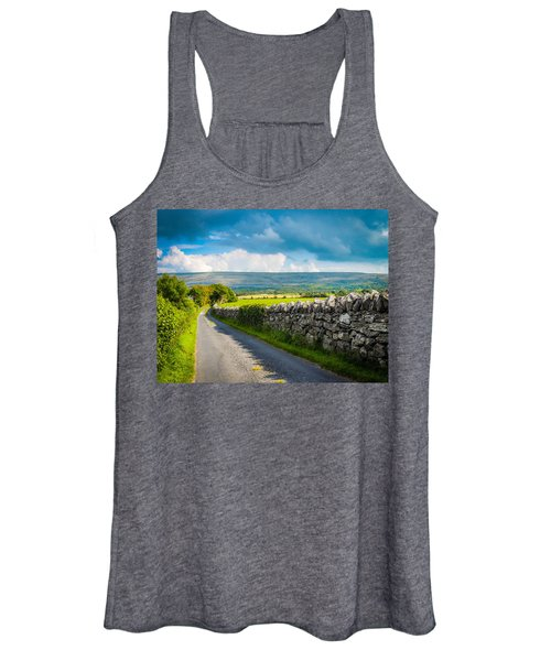 Women's Tank Top featuring the photograph Burren Country Road In Ireland's County Clare by James Truett