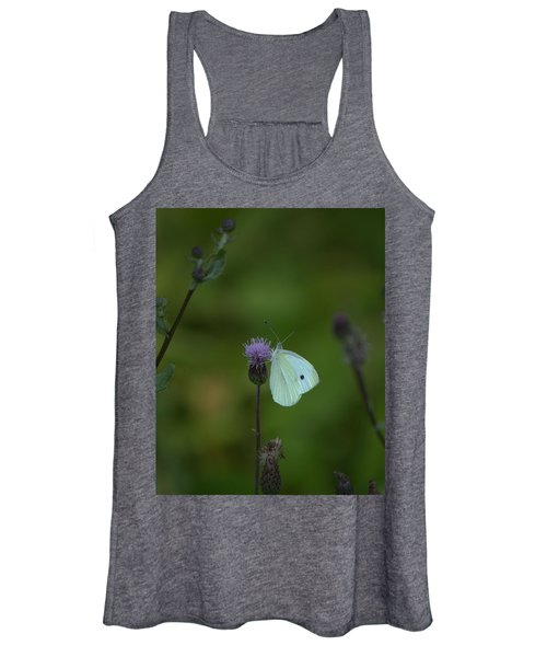 Butterfly In White 2 Women's Tank Top