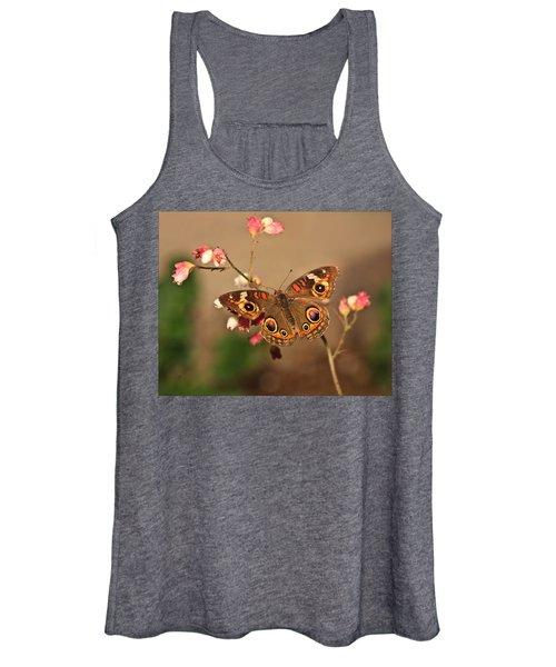 Butterfly On Pink Women's Tank Top
