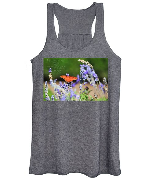 Butterfly With Message Women's Tank Top