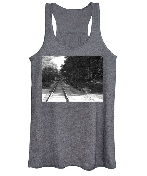Bw Railroad Track To Somewhere Women's Tank Top