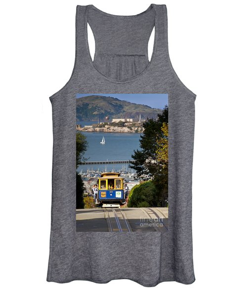 San Francisco Cable Car On Hyde Street Print By Brian Jannsen Photography Women's Tank Top