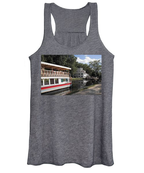 Canal Boat On The C And O Canal At Great Falls Tavern Women's Tank Top