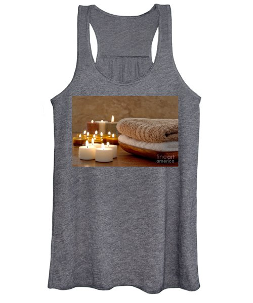 Candles And Towels In A Spa Women's Tank Top