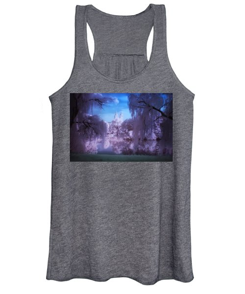 Central Park Lake Willows Color Women's Tank Top