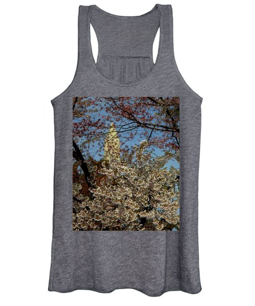 Cherry Blossoms And The Monument Women's Tank Top