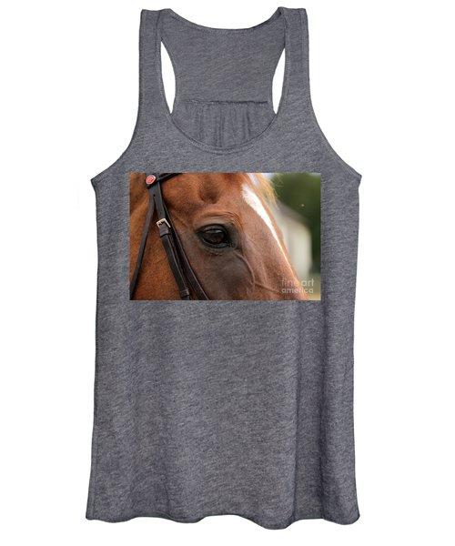 Chestnut Horse Eye Women's Tank Top
