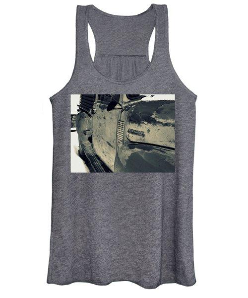 Arroyo Seco Chevy In Silver Women's Tank Top