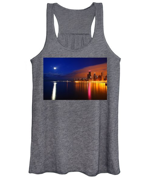 Chicago Skyline Moonlight Women's Tank Top
