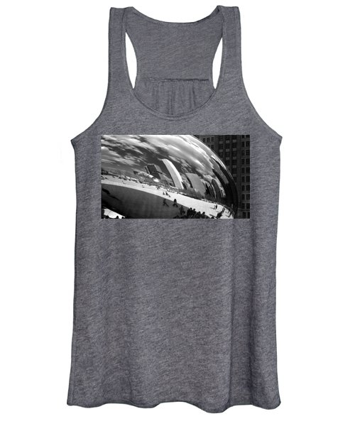 Chicago Skyline Reflected Bean Women's Tank Top