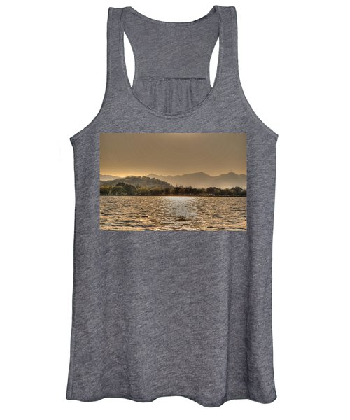 China Lake Sunset Women's Tank Top