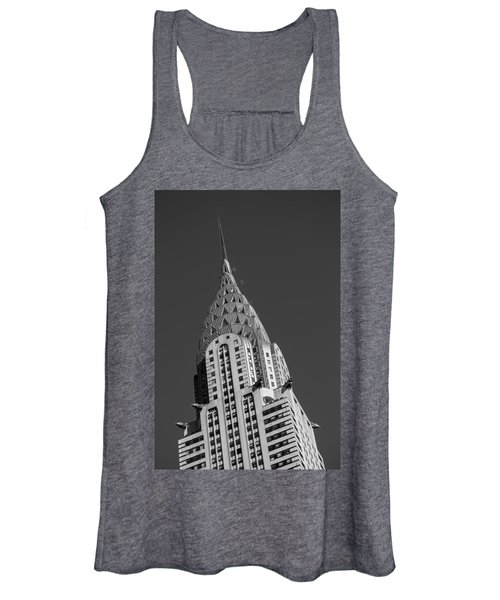 Chrysler Building Bw Women's Tank Top