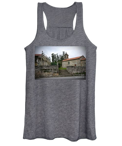 Church And Cemetery In A Small Village In Galicia Women's Tank Top