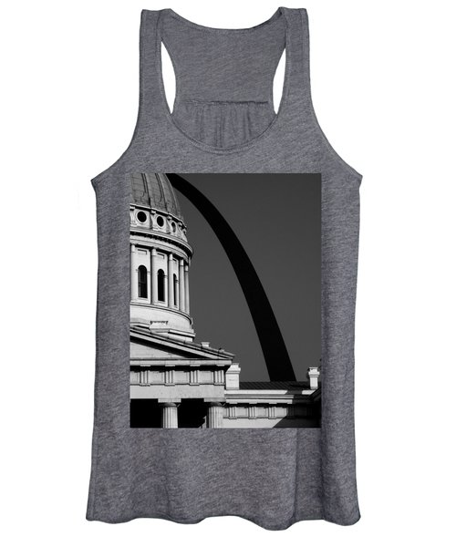 Classical Dome Arch Silhouette Black White Women's Tank Top