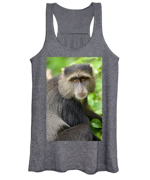 Close-up Of A Blue Monkey Cercopithecus Women's Tank Top